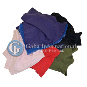 Colour T-shirt Cotton Cleaning Rags